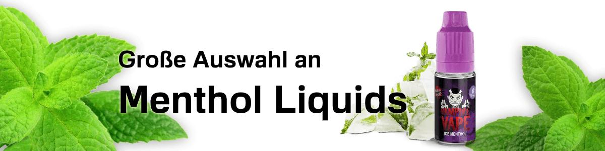 Menthol Liquids in großer Auswahl